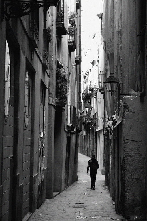 Backstreet in Barcelona..
